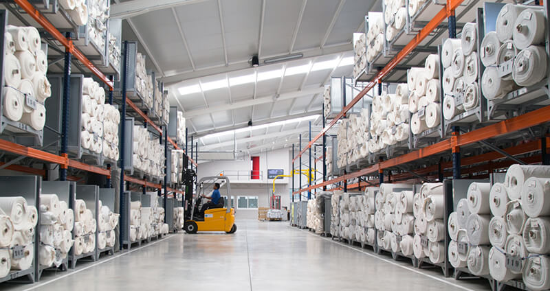 technical fabric production warehouse