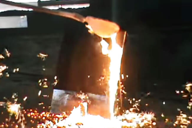 Protective fabric against molten steel splashes Marko steel