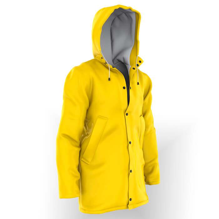 RAINCOAT HIGH VISIBILITY FIRE RESISTANT